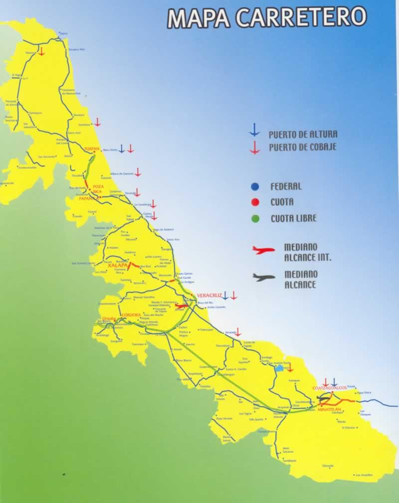 Mapa Carretero De Veracruz.